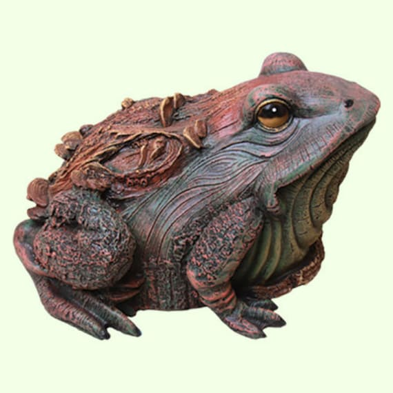 Statue Brown Toad Garden Frog Large Feng Shui Decor Figure Wild Animal Outdoor Yard Decoration Exterior Sculpture Lawn Ornament Gifts