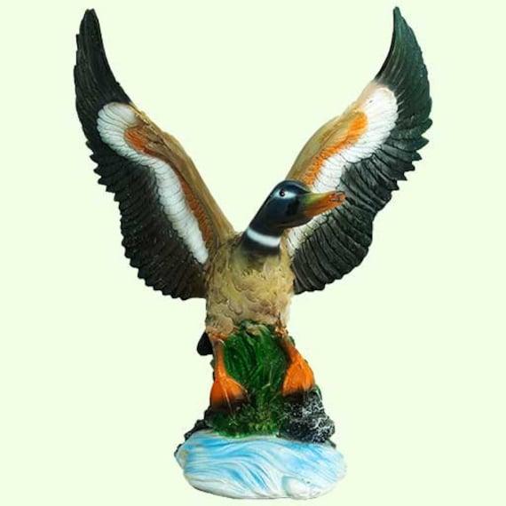 UK Life like Bird Ornament Figurine Parrot Model Toy Lawn Sculpture Garden Decor