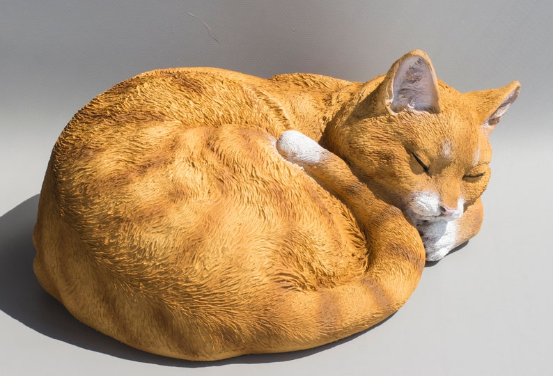 Cremation Urn for Cat Urn Sleeping Cat Cat Memorial Statue ...