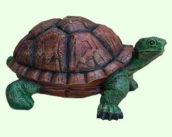 Turtle Sculpture *Garden Statue *Tortoise Figurine *Wildlife Animal *Sculpture Outdoor *Indian Art Collection Gifts *Ocean Sea Bedroom Decor