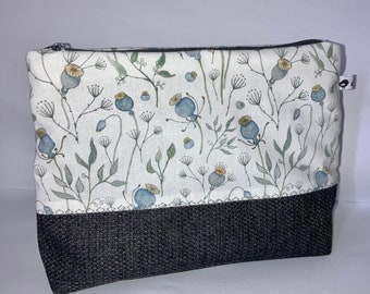 Bag cosmetic pomade poppy blue grey