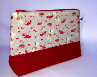 Bag cosmetic bag fairy elf red