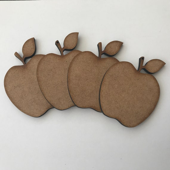 Large 4mm MDF Apple Craft Wooden Shape Blank Wood 20 30 40cm Unpainted