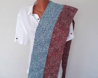 Vente laine écharpe écharpe unisexe vintage hiver doux chaud mode écharpe  vertical tissé à la main femmes foulard art foulard homme foulard cadeau  pour ... 045351c70d7