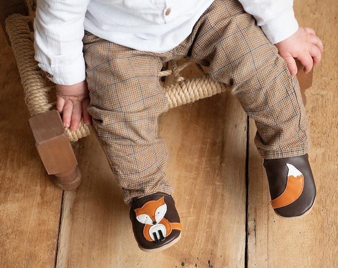 Leather Pushes Crawling Shoes Crawling Dolls Fox