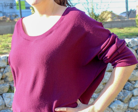 Oversize Pullover Katina 32 46, Schnittmuster, Ebook