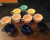 10 pc. Vintage FiestaWare Cup Set
