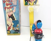 VINTAGE LINEMAR POPEYE The Basketball Player with Original Box