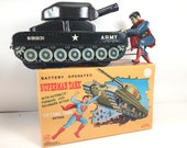 Super Rare Linemar SUPERMAN FIGHTING Turnover Tank with Box