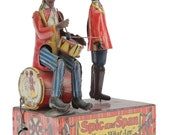1- RARE Vintage Marx, Spic Drummer and Span Dancer Wind-Up Tin Toy.
