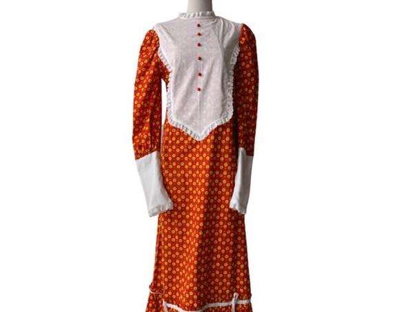 Vintage Peter Pan Fabrics Holly Hobby Prairie Dress, This Handmade Tween Teen Maxi Dress is Way too adorable! Perfect flower girl dress!