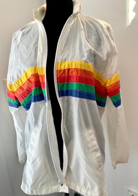 Vintage Royal Caribbean Rainbow Windbreaker, athletic track jacket