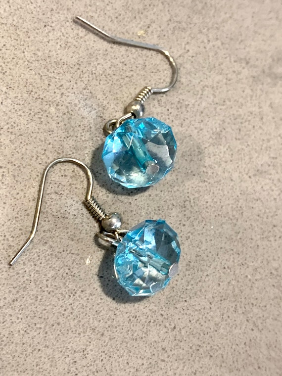 Baby Blue Crystal Dangles, Sparkling Rhinestone Glamour Statement Earrings, Prom Jewelry, Pageant, Sweet Sixteen