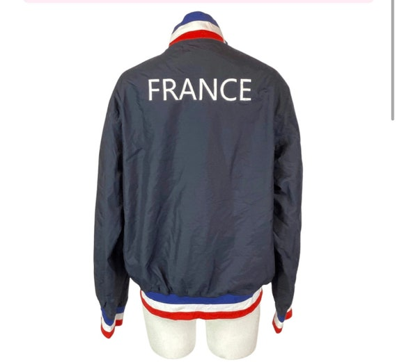 France Track Jacket, vintage 90s baseball running sports styled jacket, Gift for Francophile