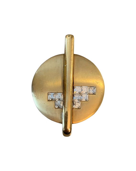 Make Your Own Art Deco Necklace, DIR Jewelry, Geometric Golden & Black Enamel Pendant, High End Lia Sophia