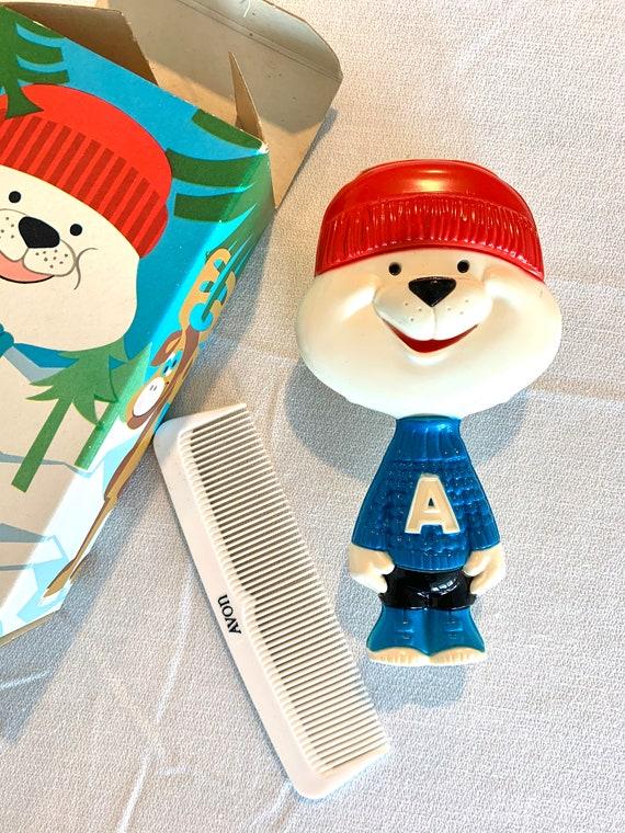 AVON Arch E Bear Comb and Brush Set, Vintage 70s unused in Original Box, Cute Kids Tween Grooming Kit