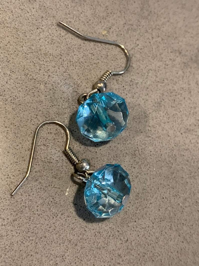 Prom Jewelry Sparkling Rhinestone Glamour Statement Earrings Pageant Sweet Sixteen Baby Blue Crystal Dangles