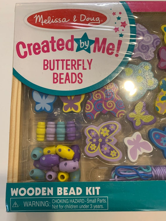 Melissa & Doug Butterfly Beads Created by Me Make Your Own Beads Necklace Kids Craft Kit