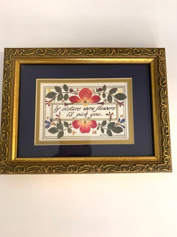 If Sisters Were Flowers I'd Pick You by C. walden, Ornate Framed Art, Gift for Sister
