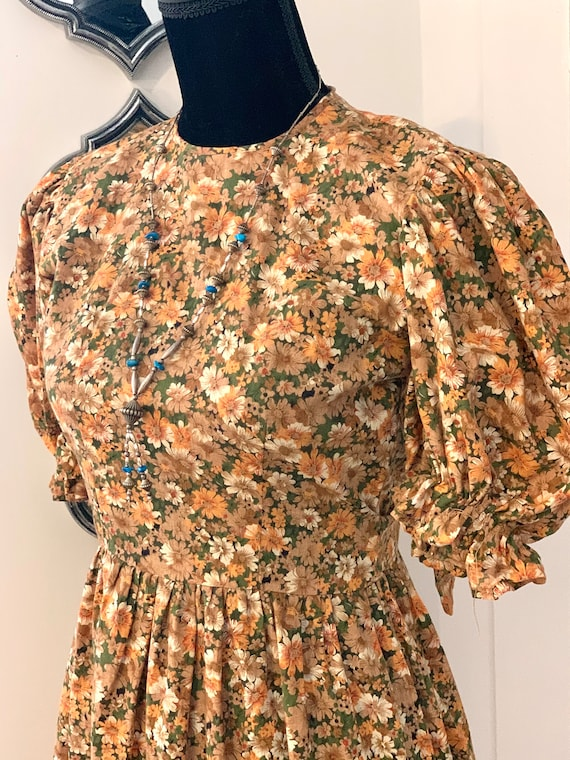 Vintage Calico Holly Hobby Prairie Dress with Ruff