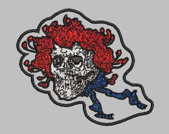 97769ffd5556 Bertha Grateful Dead Skull Embroidery Design