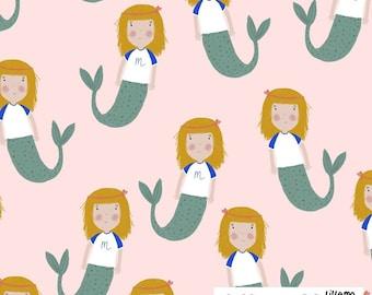 Organic cotton wove fabric Mimi Mermaid Lillemo Lillestoff