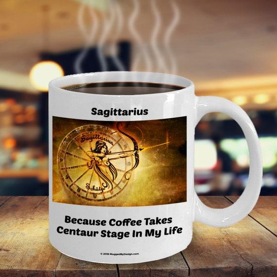 Sagittarius Centaur Archer Funny Zodiac Star Sign Coffee Mug