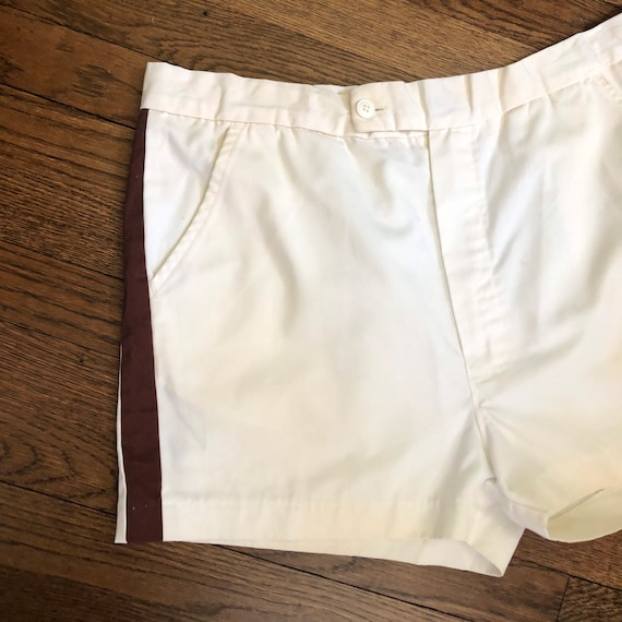 """2.5"""" Inseam 70s Men's Tennis Short Shorts with Si… - image 2"""