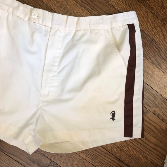 """2.5"""" Inseam 70s Men's Tennis Short Shorts with Si… - image 3"""