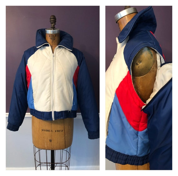 Awesome Vintage 80s Ski Jacket with Zip Off Sleeve
