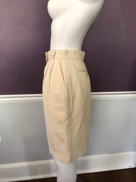 80s 90s Twill Bermuda Shorts Tailored with Pleats… - image 6