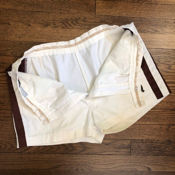 """2.5"""" Inseam 70s Men's Tennis Short Shorts with Si… - image 8"""