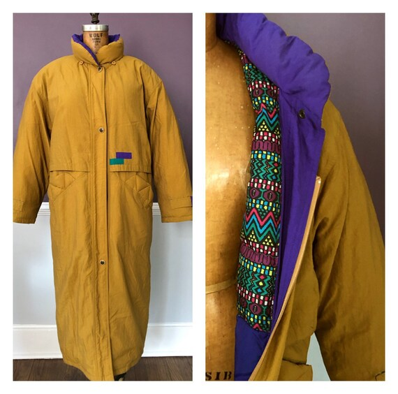 Amazing Vintage 80s New Wave Full Length Puffer Wi