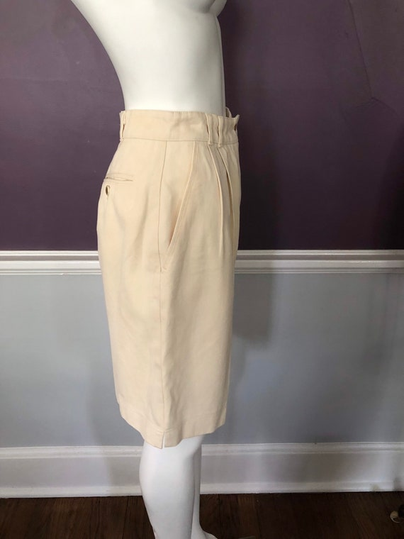 80s 90s Twill Bermuda Shorts Tailored with Pleats… - image 7