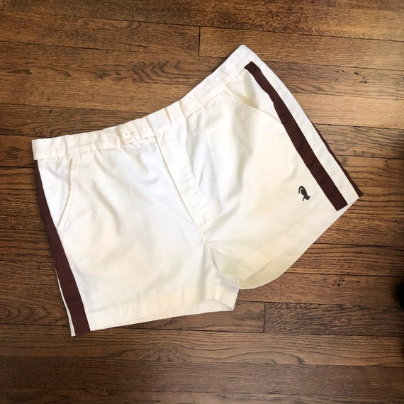 """2.5"""" Inseam 70s Men's Tennis Short Shorts with Si… - image 1"""
