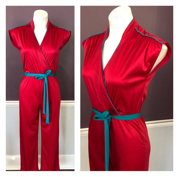 70s 80s Fuchsia and Turquoise Knit Jersey Disco Ju
