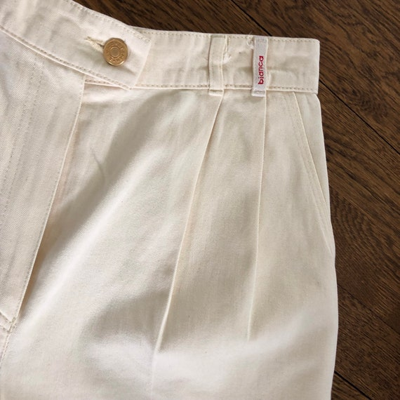 80s 90s Twill Bermuda Shorts Tailored with Pleats… - image 8
