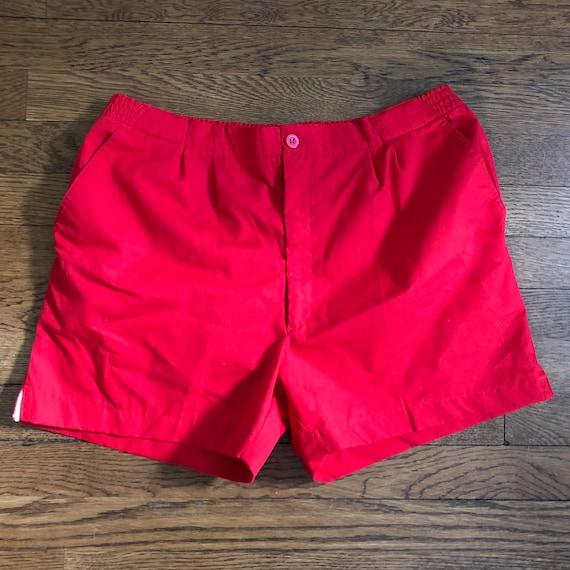 Vintage Short Shorts 80s Tailored Poplin Mens Plea