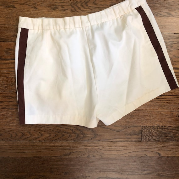 """2.5"""" Inseam 70s Men's Tennis Short Shorts with Si… - image 7"""