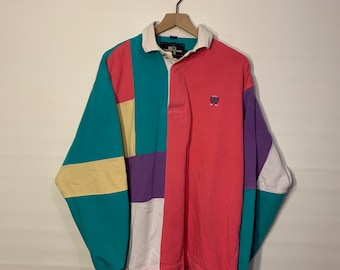 b23fb44f Vintage 90s Legend Rugby color block sweater, size Large