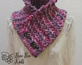 Hand knit Herringbone Neckwarmer - Made to Order