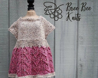 Hand knit Baby Dress, Soft Cotton - Made to Order