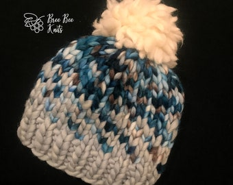 Hand knit Sunrise Hat - Baby size - Ready to Ship