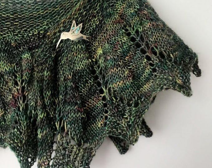 Featured listing image: Hand knit Shawlette - Ready to Ship -  Luxurious Gift