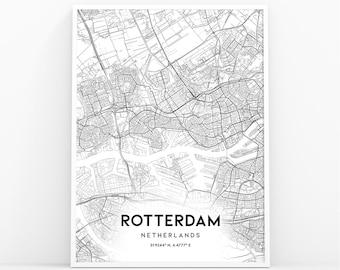Rotterdam map | Etsy