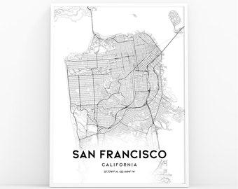 San francisco map | Etsy