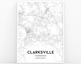 clarksville tn etsy Chapels in Gatlinburg TN clarksville map print tennessee tn usa map art poster city street road map print nursery room wall office decor printable map 270w