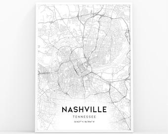 photo about Printable Map of Nashville named Nashville map print Etsy