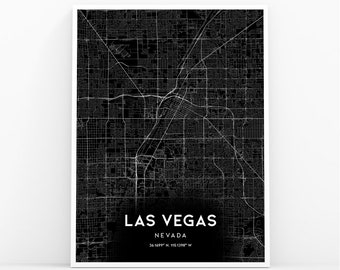 Nv wall map | Etsy
