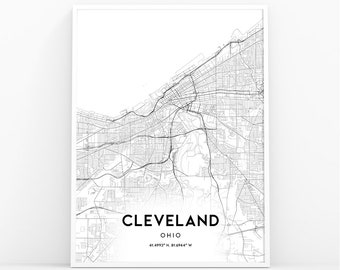 Cleveland map | Etsy on usa map oh, zip code map of cleveland, usa map tn, usa map ny, wall map of cleveland, usa map texas, usa map ohio, usa map fl, usa map ga,